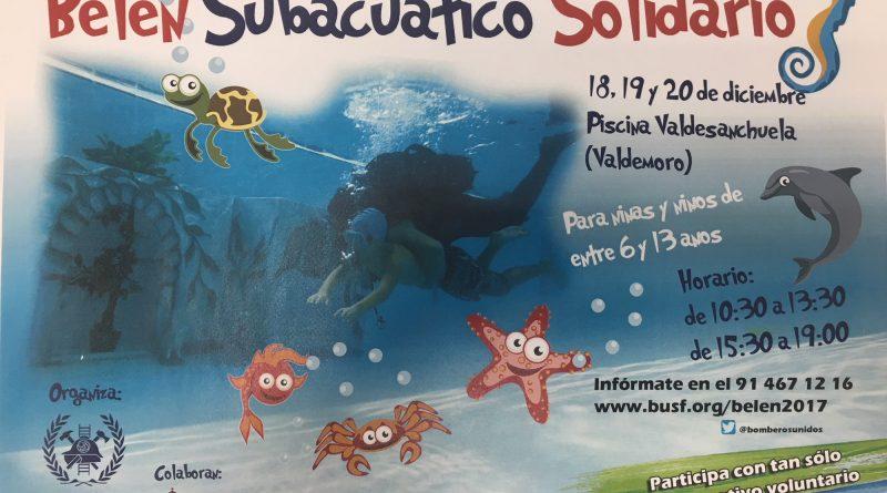 Belén subacuático solidario en Valdemoro