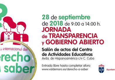 Valdemoro celebra este viernes la Jornada de transparencia y gobierno abierto