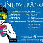 Películas bajo las estrellas, Cine de Verano
