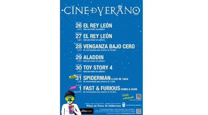 Cartelera del Cine de Verano de Valdemoro