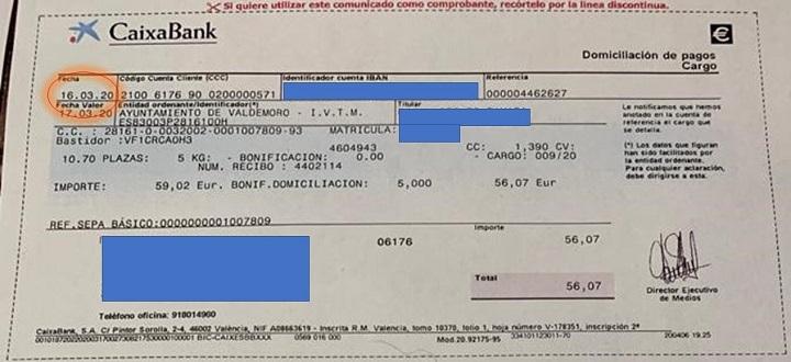 Prorroga del pago de varios impuestos