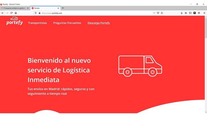 Portefy ofrece envíos solidarios