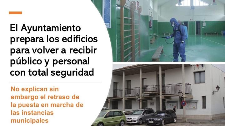 Ayuntamiento prepara edificios para la normalidad