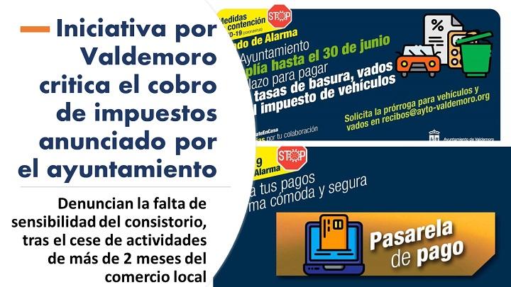 Iniciativa por Valdemoro critica impuestos