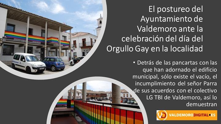Postureo del Ayuntamiento con el día del Orgullo Gay