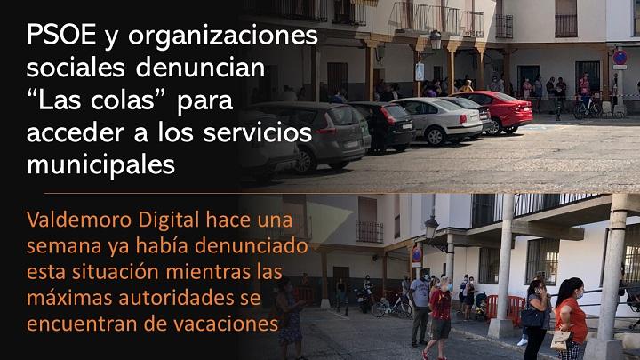 """Denuncian """"Las colas"""" en los servicios municipales"""
