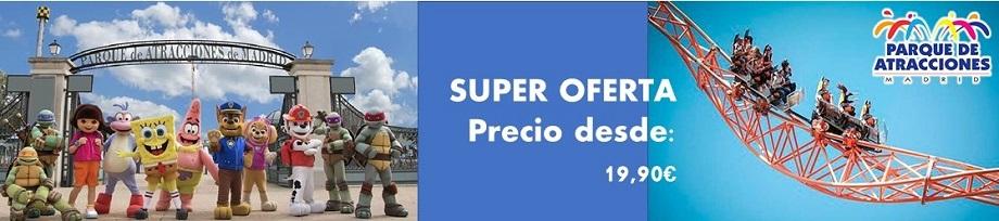 Banner de cabecera Parque de Atracciones de Madrid