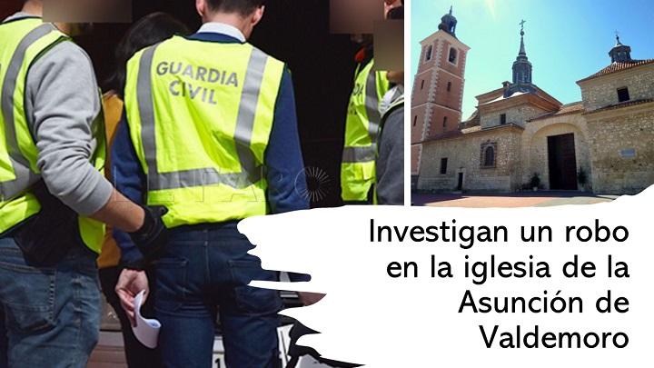 Investigan Robo en la iglesia de la Asunción