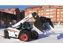 Bobcat colaboró en la retirada de nieve