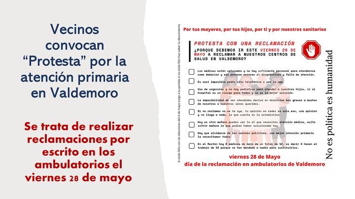 """""""Protesta"""" por la atención primaria en Valdemoro"""
