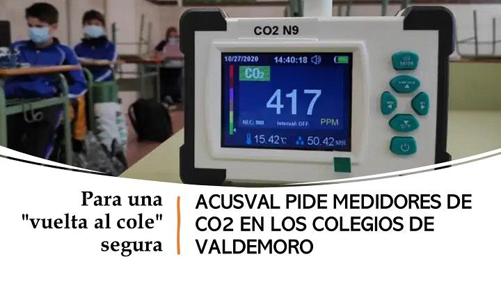 Medidores de CO2 para colegios de Valdemoro