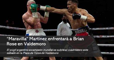 """Maravilla"" Martínez contra Brian Rose"