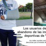 Abandono de las instalaciones deportivas de Valdemoro